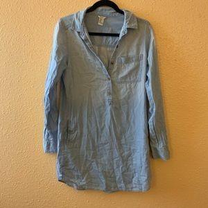 Forever 21 Mock Denim Shirt Dress
